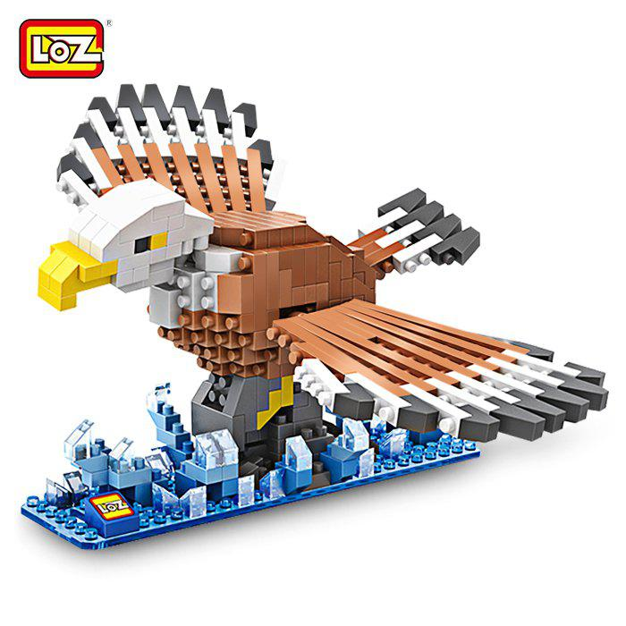 LOZ Eagle Style Building Block ABS Educational Movie Product Kid Toy - 340pcs 8 box set dinosaur style building block educational movie product kid toy