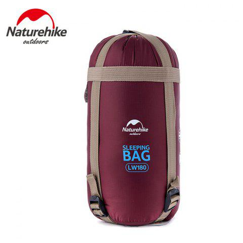 NatureHike 320D Nylon Keep Warm Sleeping Bag Sack for Outdoor Camping - 190 x 75cm - WINE RED