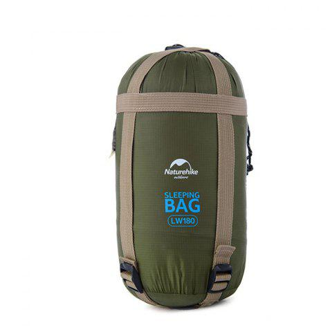 NatureHike 320D Nylon Keep Warm Sleeping Bag Sack for Outdoor Camping - 190 x 75cm - ARMY GREEN