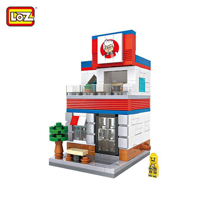 LOZ ABS Street View Architecture Building Block Educational Movie Product Kid Toy - 303pcs loz abs theater architecture building block educational movie product kid toy 146pcs
