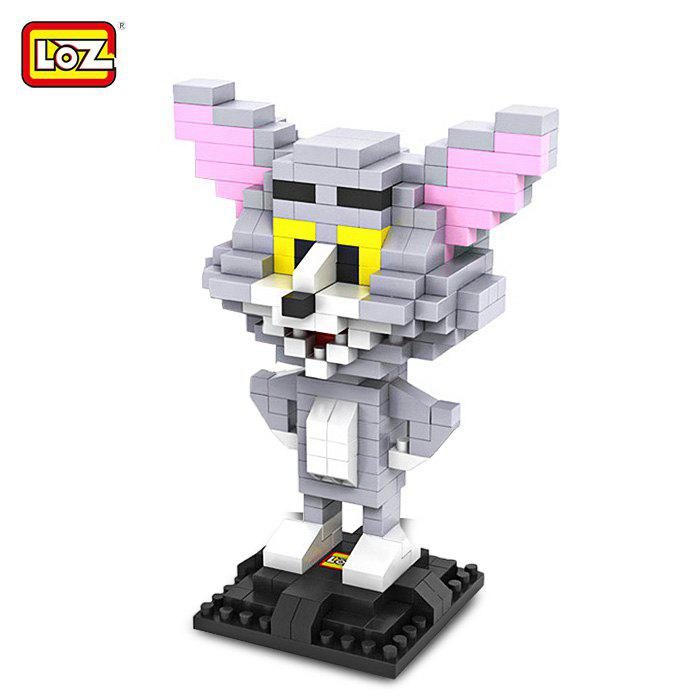 LOZ 290Pcs L - 9445 Tom and Jerry Cat Figure Building Block Educational DIY Toy a toy a dream enlighten 308 pirates series black pearl building block sets educational diy construction bricks baby toys