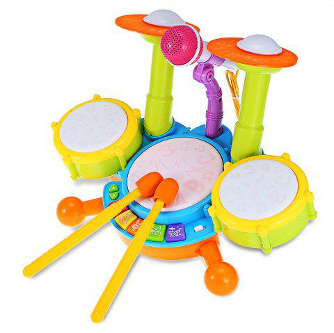 Children Preschool Simulation Musical Jazz Drum with Light Learning Educational Toy - COLORMIX