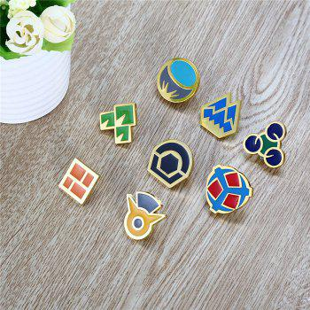 Alloy Badge Movie Product Children Gift Decoration - 8pcs / set - STYLE A STYLE A