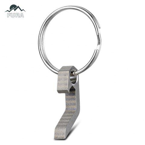 FURA 3 in 1 Stainless Steel Bottle Opener Creative Key Chain Screwdriver Outdoor Tool - SILVER