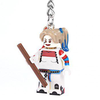 Alloy + Plastic Key Chain Hanging Pendant Clown Style Keyring Movie Product for Decoration - COLORMIX COLORMIX