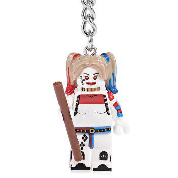 Alloy + Plastic Key Chain Hanging Pendant Clown Style Keyring Movie Product for Decoration -  COLORMIX