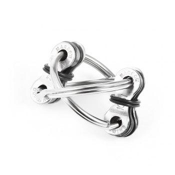Chain Puzzle Style Stress Reliever EDC Pressure Reducing Toy for Office Worker - SILVER