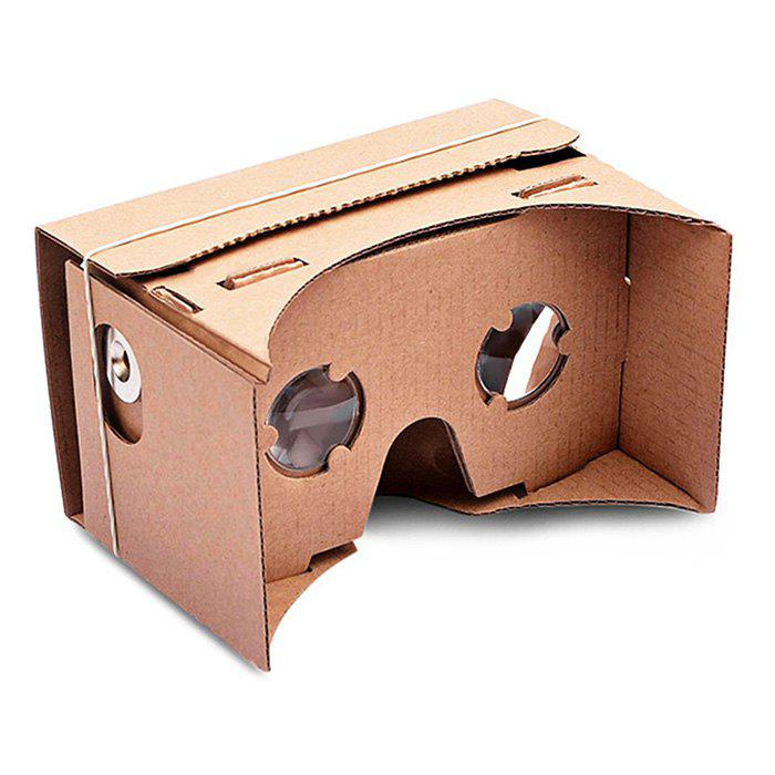 DIY Google Paperboard Mobile Phone 3D Glasses Virtual Reality for iPhone Samsung Google Nexus 6 - YELLOW