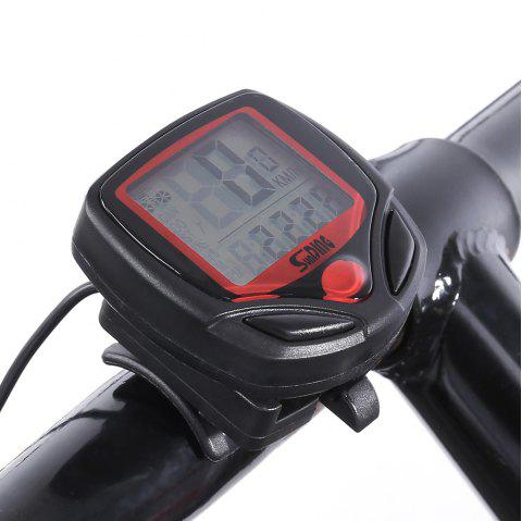SUNDING SD548B MTB Road Bike Wired Bicycle Computer with Water Resistant Functions - BLACK