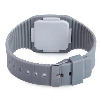 Rubber Touch Screen Sport Watches with Red Display Time Rectangle Shape - GRAY