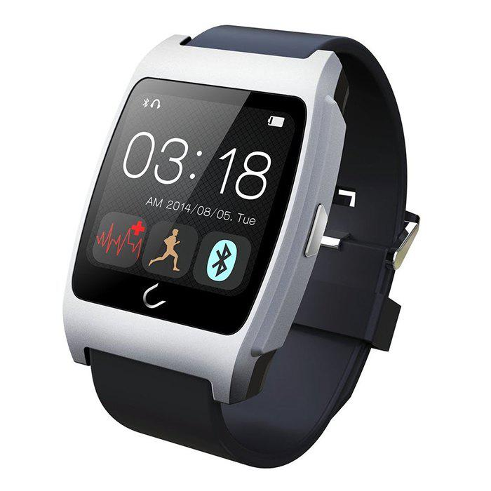 U Watch Ux Smart Watch with Heart Rate Monitors Pedometer Calorie Burned Sleep Monitor Remote Camera Anti-lost Find Phone - SILVER