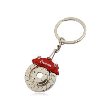 Alloy Brake Key Chain Hanging Pendant Keyring - 3.54 inch - COLORMIX COLORMIX