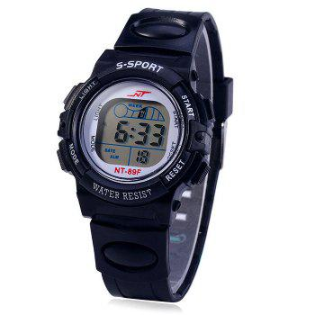 NT NT - 89F Flash Lights Sports LED Children Watch Day Date Alarm Stopwatch Rubber Strap Wristwatch