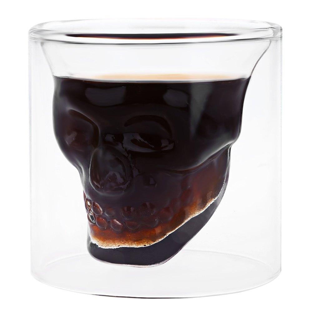 Fancy Crystal Skull Transparent Glass Cup HD0306501