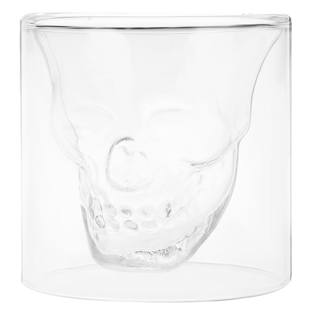 Fancy Crystal Skull Transparent Glass Cup - TRANSPARENT