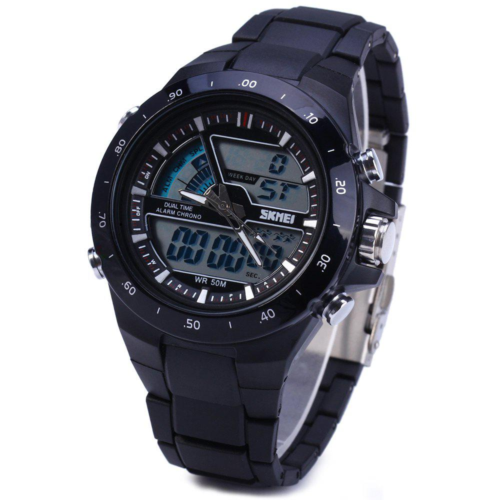 Skmei 1016 Water Resistance Sports LED Watch with Japan Double Movt Date Day Alarm Stopwatch Function Rubber Band skmei 0921 led digital quartz watch water resistant day date display alarm