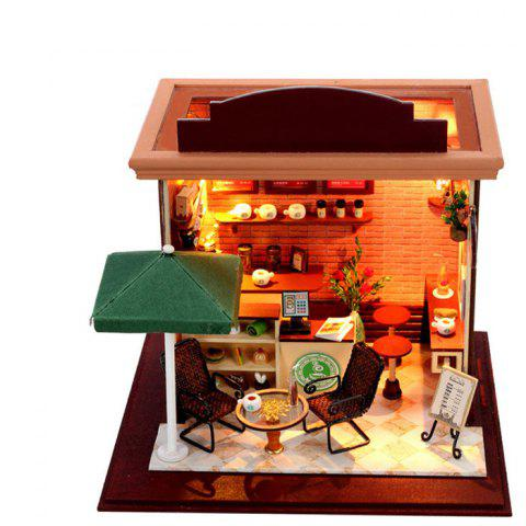 Doll House LOZ ABS Street View Architecture Building Block Educational Movie Product Kid Toy - COLORMIX