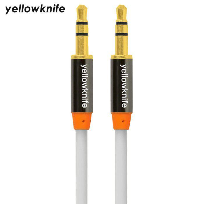 Yellowknife Universal 1m 3.5mm Jack Audio Câble - Blanc