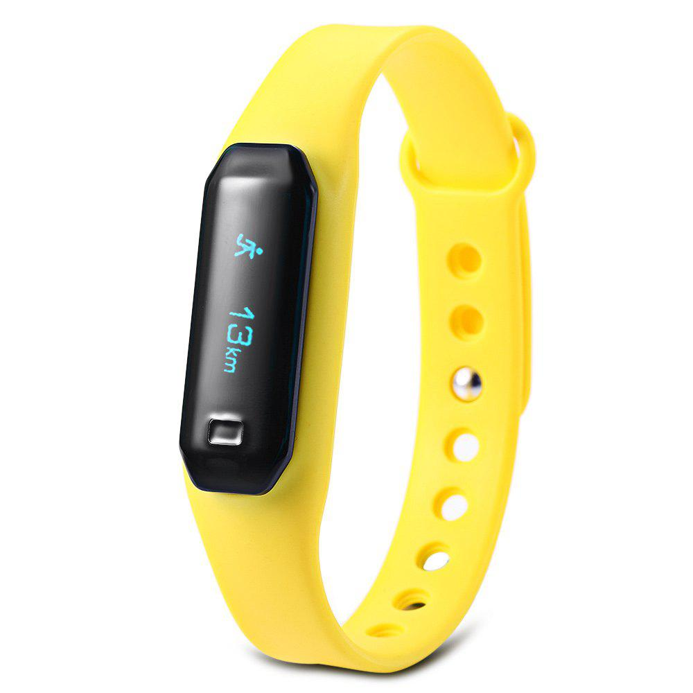 U01 OLED Touch Screen Smart Wristband with Dialog Bluetooth Chip Sleep Monitoring - YELLOW