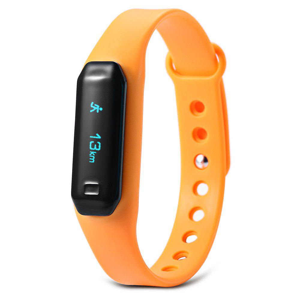 U01 OLED Touch Screen Smart Wristband with Dialog Bluetooth Chip Sleep Monitoring - SWEET ORANGE