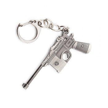 Key Chain 38 Rifle Pistol Hanging Pendant Metal Keyring Online Military Game Toy for Bag Decoration - SILVER GRAY SILVER GRAY
