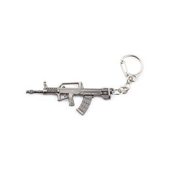 Buy Key Chain Rifle Hanging Pendant Metal Keyring Online Military Game Toy Bag Decoration SILVER GRAY
