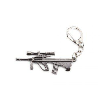 Key Chain Rifle Hanging Pendant Metal Keyring Online Military Game Toy for Bag Decoration - SILVER GRAY SILVER GRAY