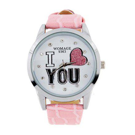 9363 Fahionable Eletronic Watch (Pink) - PINK