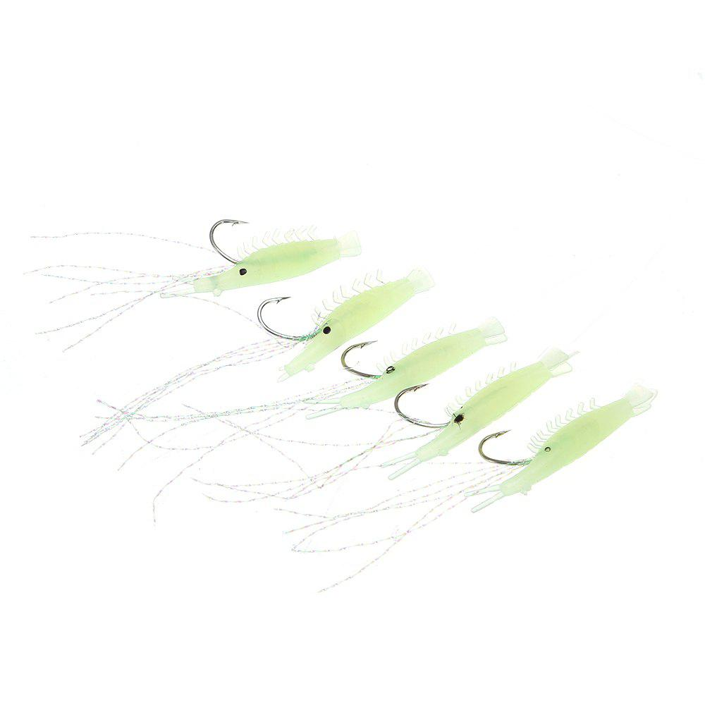5 in 1 108cm Ultra-realistic Sabiki Rigs Fishing Lure Fishhook - GREEN NO.13