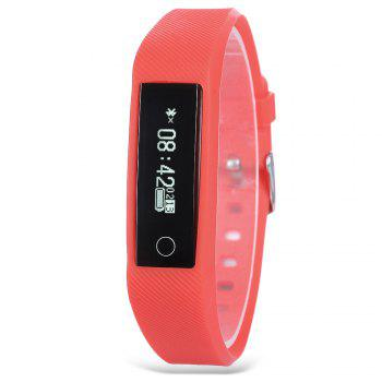 Y01 Heart Rate Smart Wristband Remote Camera Anti-lost Notifications Reminder Bracelet -  RED