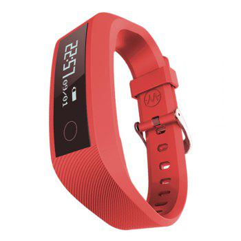 Y01 Heart Rate Smart Wristband Remote Camera Anti-lost Notifications Reminder Bracelet - RED RED
