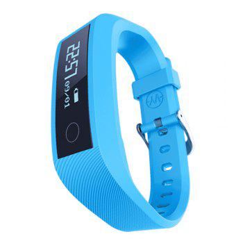 Y01 Heart Rate Smart Wristband Remote Camera Anti-lost Notifications Reminder Bracelet - BLUE BLUE