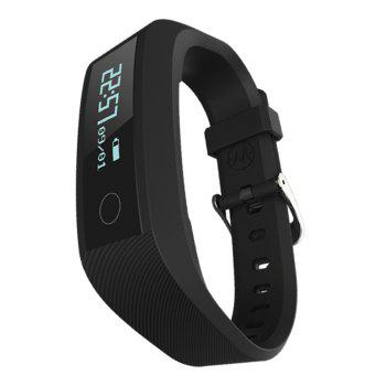 Y01 Heart Rate Smart Wristband Remote Camera Anti-lost Notifications Reminder Bracelet - BLACK BLACK