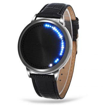 Water Resistant LED Touch Screen Watch - BLACK BLACK
