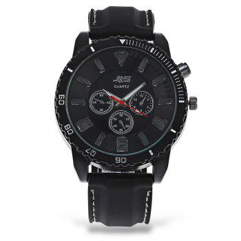 JIS Flash Light Men Quartz Watch with Leather Strap