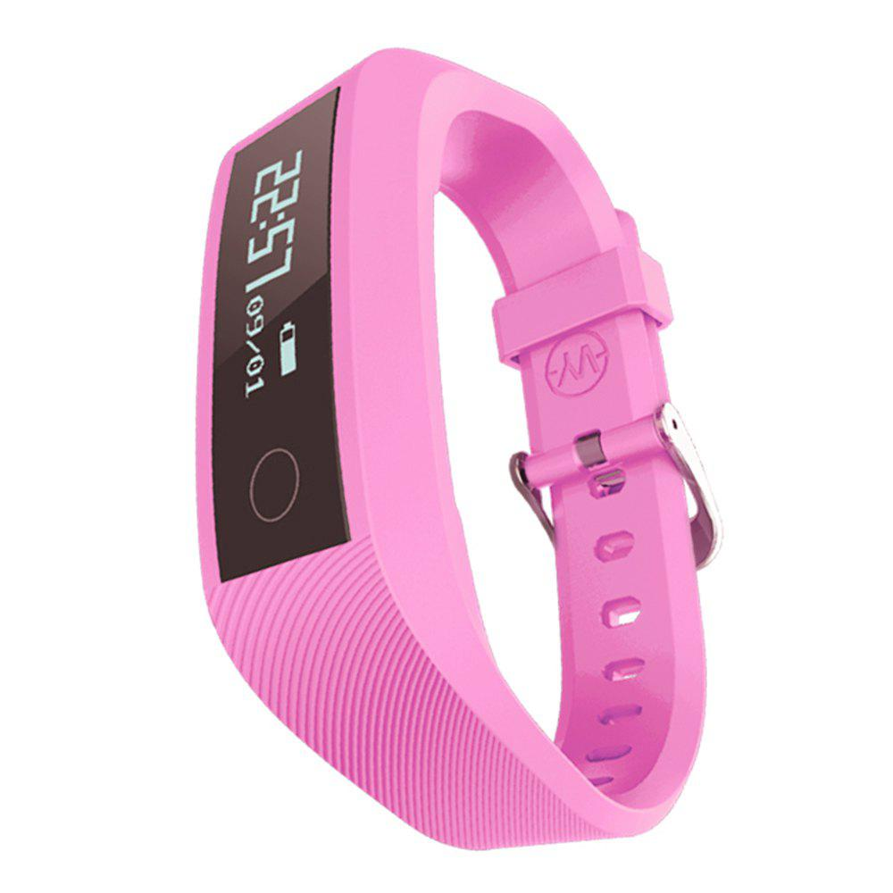 Y01 Heart Rate Smart Wristband Remote Camera Anti-lost Notifications Reminder Bracelet - PINK