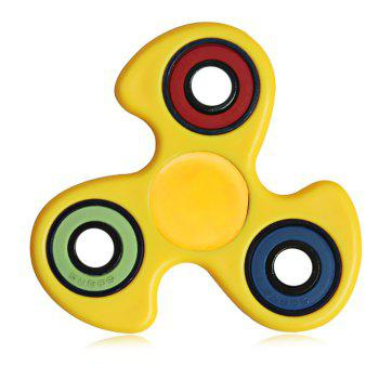 608 ABS Fidget Spinner Stress Relief Product Adult Fidgeting Toy - YELLOW YELLOW
