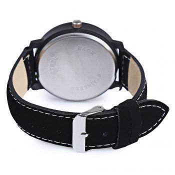Clot Fashionable Male Big Dial Quartz Watch - WHITE