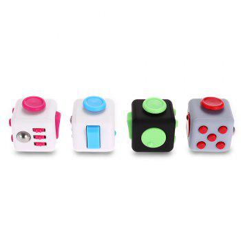 Fidget Magic Cube Style Stress Reliever Pressure Reducing Toy for Office Worker - BLACK/GREEN