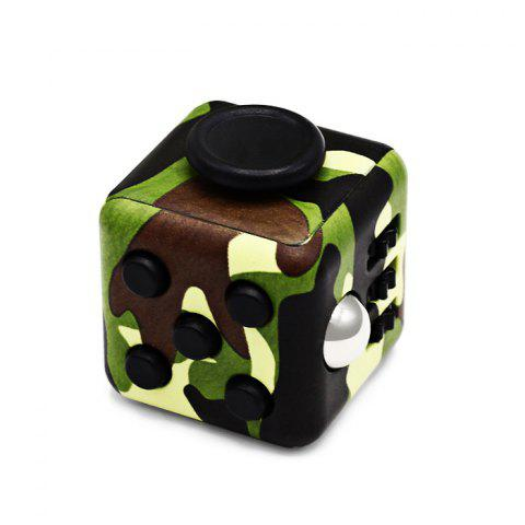 Fidget Magic Cube Style Stress Reliever Anti-stress Toy for Office Worker - ARMY GREEN CAMOUFLAGE
