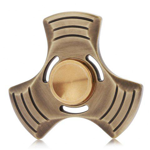 Bronze Gyro Style Stress Reliever Pressure Reducing Toy for Office Worker - GOLDEN