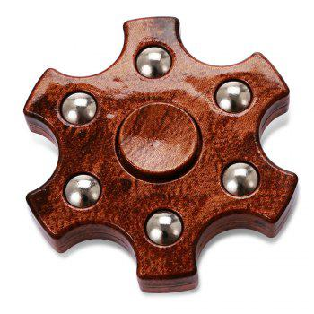 Colorful Hexagon Fidget Spinner ADHD Stress Relief Toy Relaxation Gift for Adults - BROWN