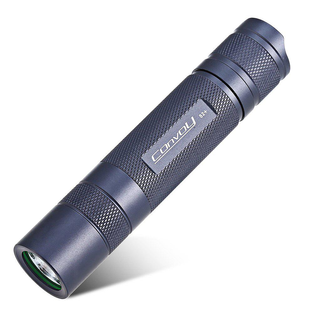 Convoy S2+ Cree XML2 U2 1B 940Lm 7135 x 6 8-mode LED Flashlight - GRAY