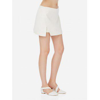 Mini Shorts Pantskirt - WHITE M