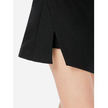 Mini Shorts Pantskirt - BLACK BLACK