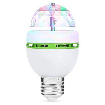 E27 AC85-260V Colorful 3W LED Rotating Lamp Stage Light Party Light - WHITE AND GREEN WHITE/GREEN