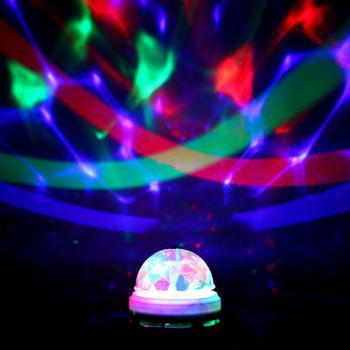 E27 AC85-260V Colorful 3W LED Rotating Lamp Stage Light Party Light -  WHITE/GREEN