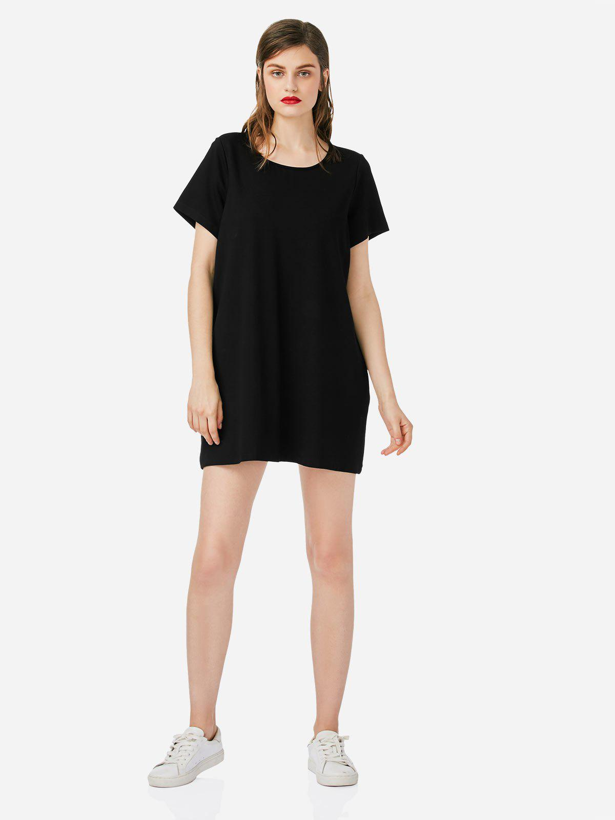 ZAN.STYLE Crew Neck T-shirt Dress