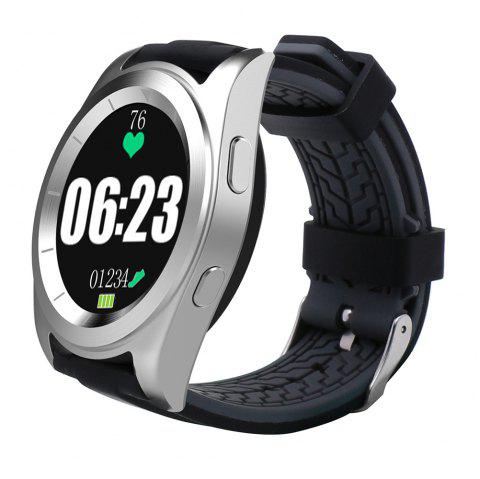 NO.1 G6 Bluetooth 4.0 Heart Rate Monitor PSG Smart Watch - SILVER TPU STRAP
