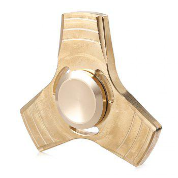 Brass Gyro Tri Fidget Spinner Stress Reliever Toy for Office Worker
